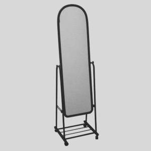 Зеркало Примерочное черного цвета 160 на 40см, фото 2