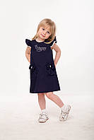 """Летние платья для девочек """"Бэтти"""" синего цвета."""