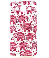 """Силиконовый чехол """"Розовые слоны"""" для Samsung Galaxy J5"""