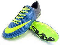 Футбольные бутсы Nike Mercurial FG Blue/Volt/Black, фото 1