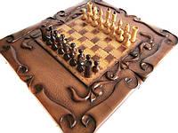 Шахматы-нарды ручной работы в виде свёртков