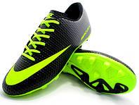 Футбольные бутсы Nike Mercurial FG Black/Volt