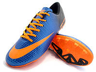 Футбольные бутсы Nike Mercurial FG Blue/Orange/Black