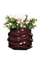 Вазон для комнатных растений керамический Волна.