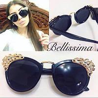 Женские стильные солнцезащитные очки со стразами k-4316170