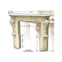 Портал для камина Classic Home EG-8401, лепной декор из полиуретана