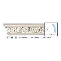 Карниз(плинтус) потолочный с орнаментом Classic Home ET-88123, лепной декор из полиуретана