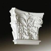 Капитель колонны Европласт 1.21.002, лепной декор из полиуретана
