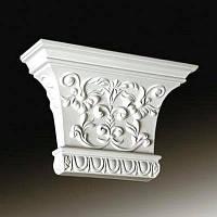 Капитель колонны Европласт 1.21.007, лепной декор из полиуретана
