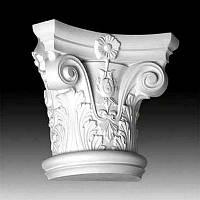 Капитель колонны Европласт 1.11.001, лепной декор из полиуретана