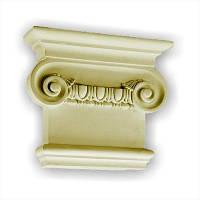 Капитель колонны Gaudi Decor PL558R, лепной декор из полиуретана