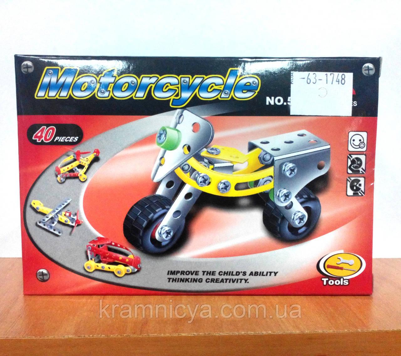 Конструктор металлический, Мотоцикл, арт.: 529-19