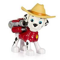 Spin Master Paw Patrol Щенячий патруль Фигурка ковбой Маршал с рюкзаком-трансформером, фото 1