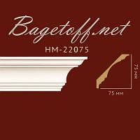 Карниз(плинтус) потолочный гладкий Classic Home New HM-22075 Flex/Гибкий, лепной декор из полиуретана