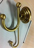 Бронзовый двойной крючок для полотенец Paccini&Saccardi Rome 30055