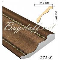 Карниз(плинтус) потолочный Арт-Багет 171-3, интерьерный декор