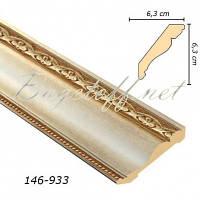 Карниз(плинтус) потолочный Арт-Багет 146-933, интерьерный декор