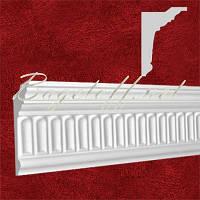Карниз(плинтус) потолочный гипсовый с орнаментом КР1120771, лепнина из гипса
