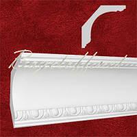 Карниз(плинтус) потолочный гипсовый с орнаментом КР1201301, лепнина из гипса