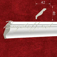 Карниз(плинтус) потолочный гипсовый гладкий КЛ0400421, лепнина из гипса