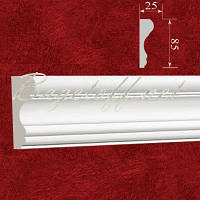 Молдинг на стену(стеновой) гипсовый гладкий МЛ08501, лепнина из гипса