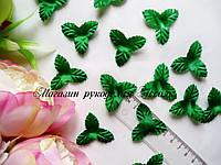Листья декоративные тканевые без стебеля зелёные