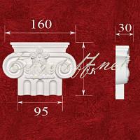 Пилястра Капитель колонны гипсовая ПК0952, лепнина из гипса