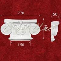 Пилястра Капитель колонны гипсовая ПК1451, лепнина из гипса