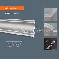 Карниз(плинтус) потолочный гладкий Европласт 1.50.126, лепной декор из полиуретана