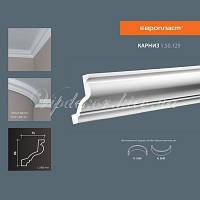 Карниз(плинтус) потолочный гладкий Европласт 1.50.129 Flex/Гибкий, лепной декор из полиуретана