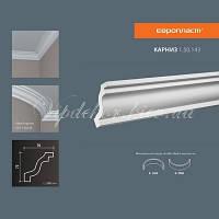 Карниз(плинтус) потолочный гладкий Европласт 1.50.143 Flex/Гибкий, лепной декор из полиуретана