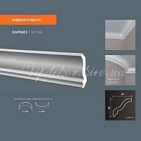 Карниз(плинтус) потолочный гладкий Европласт 1.50.144 Flex/Гибкий, лепной декор из полиуретана