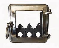 Чугунная топочная дверца-Dunántúl (полированная) 25х25см/21х21см