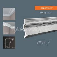 Карниз(плинтус) потолочный с орнаментом Европласт 1.50.151 Flex/Гибкий, лепной декор из полиуретана