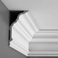 Карниз(плинтус) потолочный гладкий Orac Decor C340, лепной декор из полиуретана
