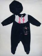 Детский велюровый комплект (комбинезон+шапочка) (КП147), Бемби