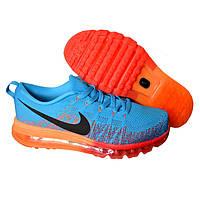 Мужские кроссовки Nike Flyknit Air Max Blue Orange