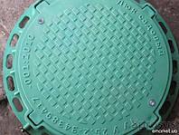 Люк садовый легкий (пластиковый, зеленого цвета)