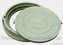 Люк садовый легкий пластиковый 3тн зеленого цвета