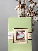 Трикотажная простынь на резинке 90х200 см, 100% хлопок, 170 гр/м2 Пакистан, 10 цветов