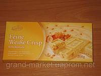 "Шоколад "" Karina"" Feine  Weibe Crisp - белый с кусочками фундука и криспи , 200г (Германия)"