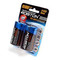 Аккумуляторы D/НR20 10000mAh ROBITON 10000MHD-2