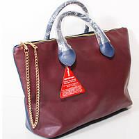 Двухцветная стильная женская сумка