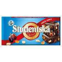 Шоколад Studentska Pecet черный с арахисом и изюмом 180 гр