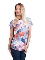 Турецкая брендовая футболка с эффектом 3 D синяя, фото 1
