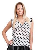 Блузка белая в горох модная Турция