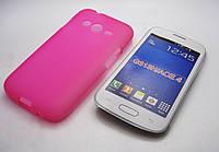 Чехол силиконовый Samsung SM-G313 Galaxy Ace 4 розовый