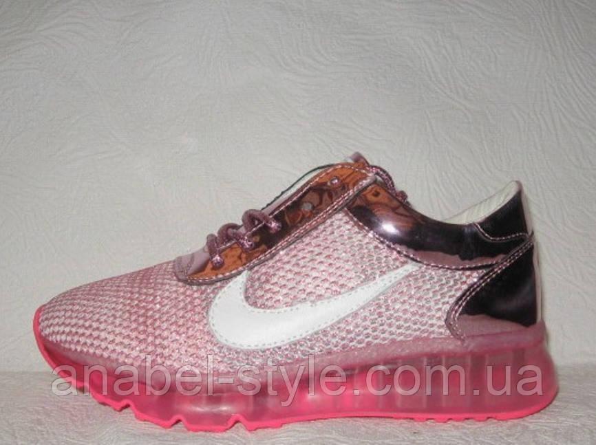 Кроссовки женские стильные розового цвета Nike