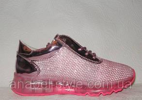 Кроссовки женские стильные розового цвета Nike, фото 2