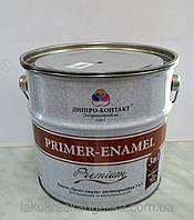 Грунт Эмаль 3 в 1(преобразователь ржавчины,грунтовка,эмаль) светло-серый 0,9 кг